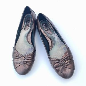Born Lilly Bronze Leather Ballet Flats Shoes 10